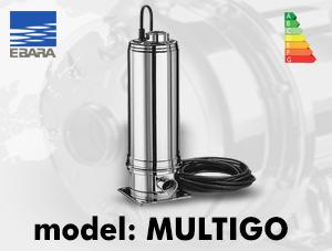 الکتروپمپ سانتریفیوژ ابارا مدل MULTIGO – عمودی طبقاتی استیل