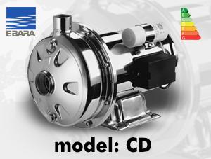 الکتروپمپ سانتریفیوژ ابارا مدل CD – تمام استیل تک پروانه